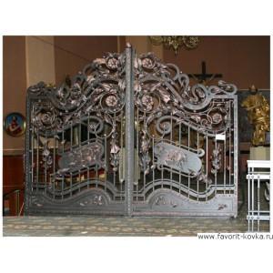 Кованые ворота87