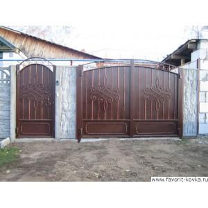 Кованые ворота91