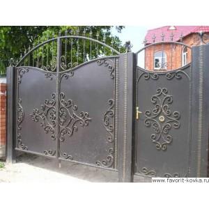 Кованые ворота101