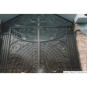 Кованые ворота107