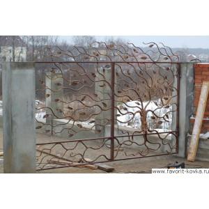 Кованые ворота110