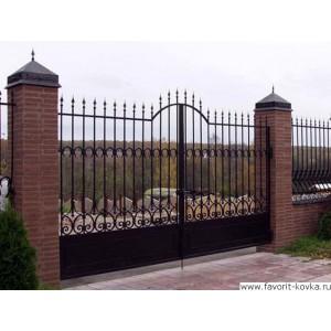 Кованые ворота114