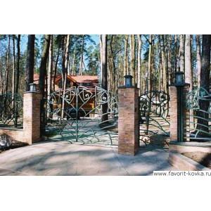 Кованые ворота116