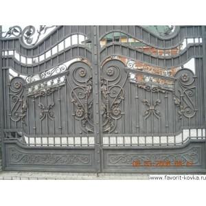 Кованые ворота117