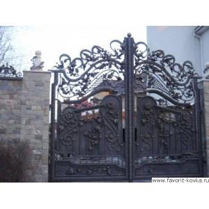 Кованые ворота122