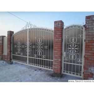 Кованые ворота124