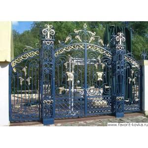 Кованые ворота125