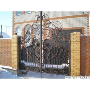 Кованые ворота128
