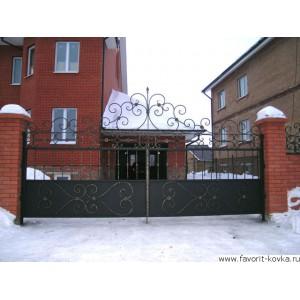 Кованые ворота129