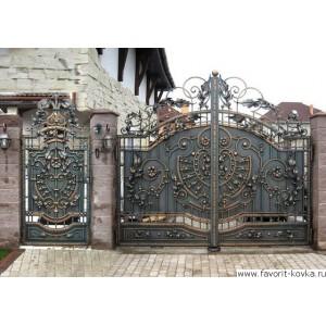 Кованые ворота130