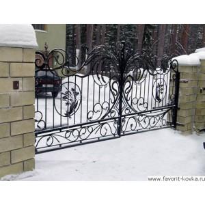 Кованые ворота131