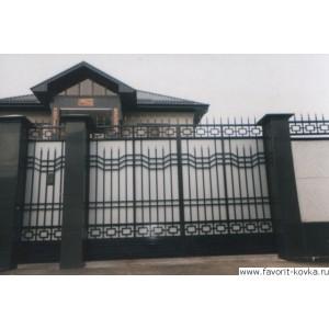 Кованые ворота132