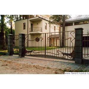 Кованые ворота133