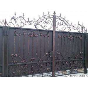 Кованые ворота134