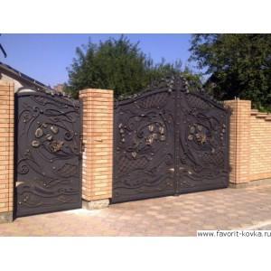Кованые ворота137