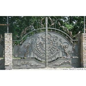 Кованые ворота138