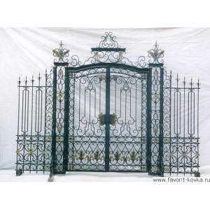 Кованые ворота140