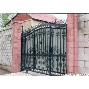 Кованые ворота141