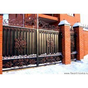 Кованые ворота142