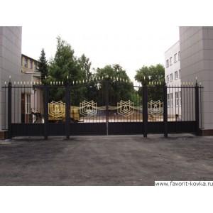 Кованые ворота143