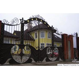Кованые ворота145
