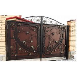 Кованые ворота146