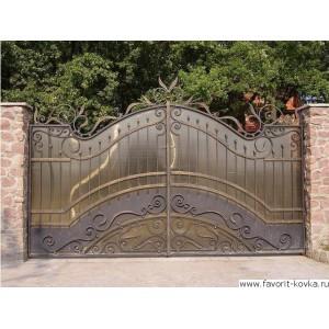 Кованые ворота147