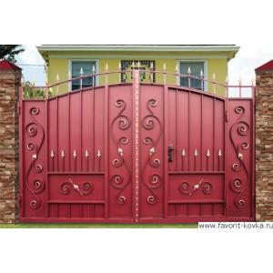 Кованые ворота149
