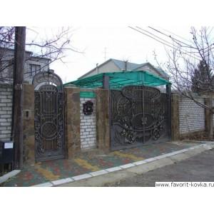 Кованые ворота150