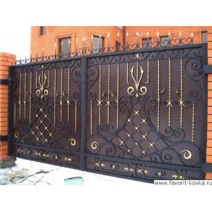 Кованые ворота151