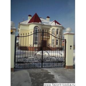 Кованые ворота152