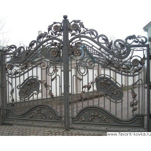 Кованые ворота153