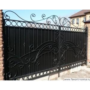 Кованые ворота155