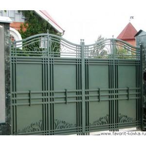 Кованые ворота156