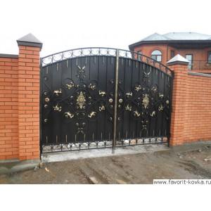 Кованые ворота157
