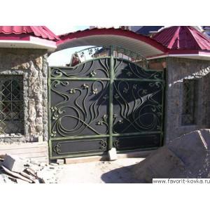 Кованые ворота158