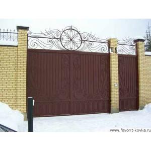 Кованые ворота161