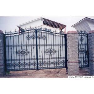 Кованые ворота162