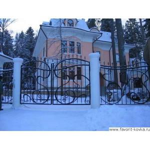 Кованые ворота163
