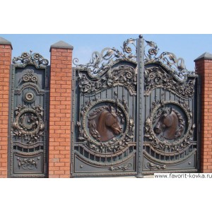 Кованые ворота166