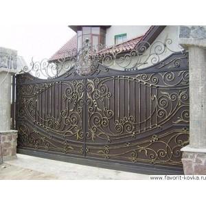 Кованые ворота167