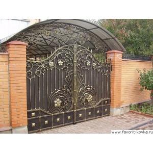 Кованые ворота168