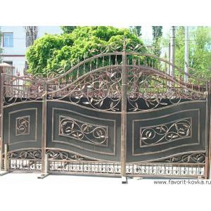 Кованые ворота171