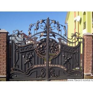 Кованые ворота172