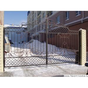 Кованые ворота174