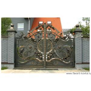 Кованые ворота176