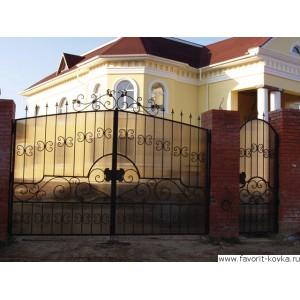 Кованые ворота184