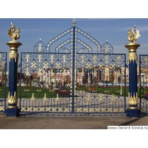 Кованые ворота185