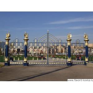 Кованые ворота186