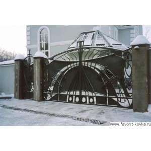Кованые ворота188